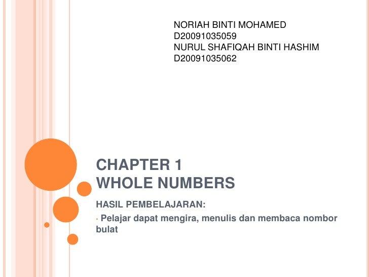NORIAH BINTI MOHAMED                D20091035059                NURUL SHAFIQAH BINTI HASHIM                D20091035062CHA...