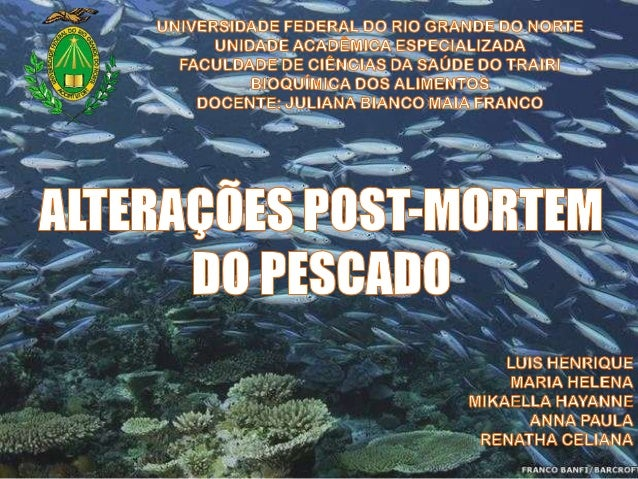 Alimento altamente perecível Cuidados adequados: captura até consumidor Manipulação do pescado determina a intensidade das...
