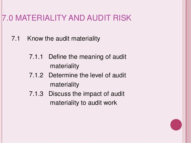 Materiality (auditing)