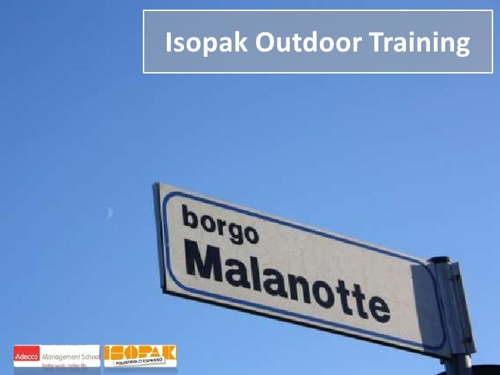 Isopak Outdoor Training<br />