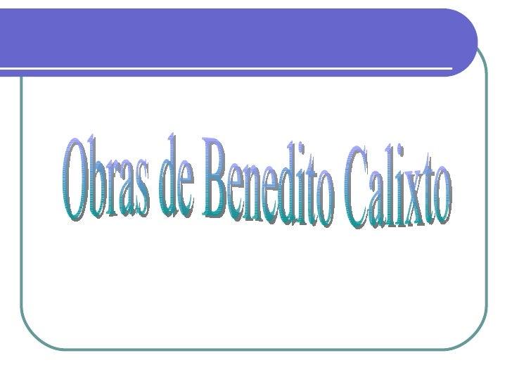 Obras de Benedito Calixto