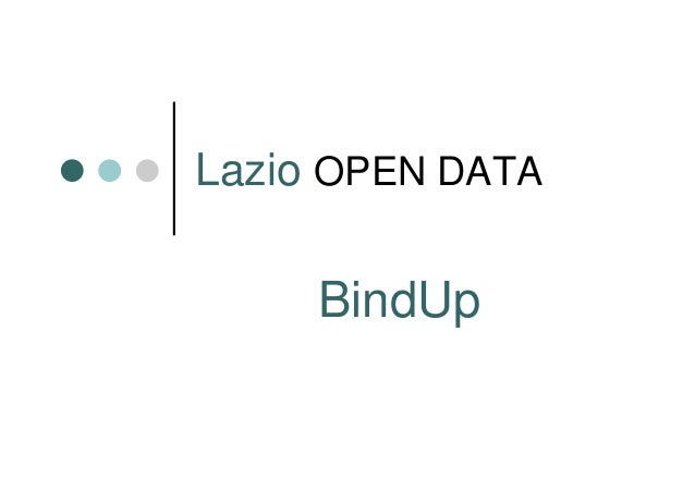 Lazio OPEN DATA  BindUp