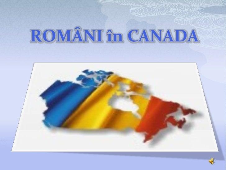 ROMÂNI în CANADA<br />subtitle<br />