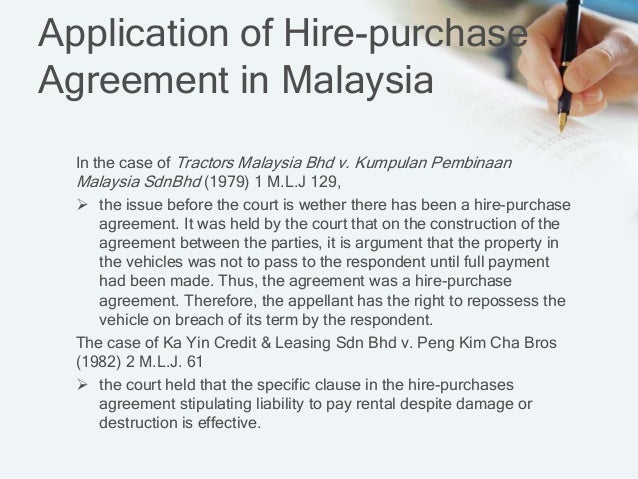 Hire Purchase Act Business Law