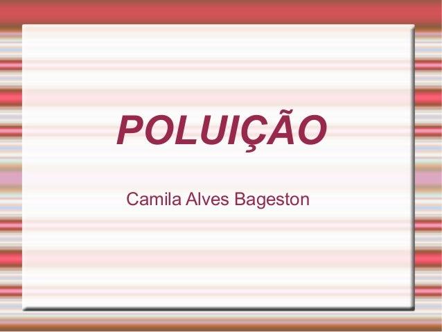 POLUIÇÃO Camila Alves Bageston