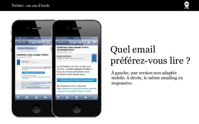 Twitter : un cas d'école                           Quel email                           préférez-vous lire ?              ...