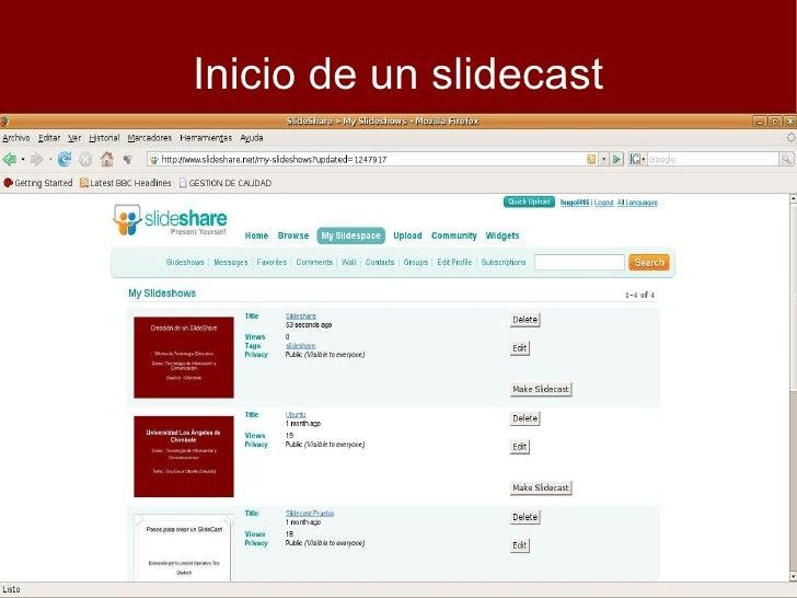Creacion de SlideCast Slide 2