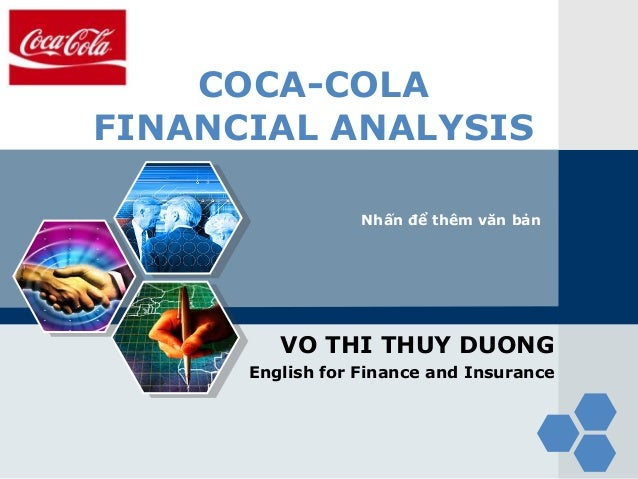 Analysing financial performance of coca cola