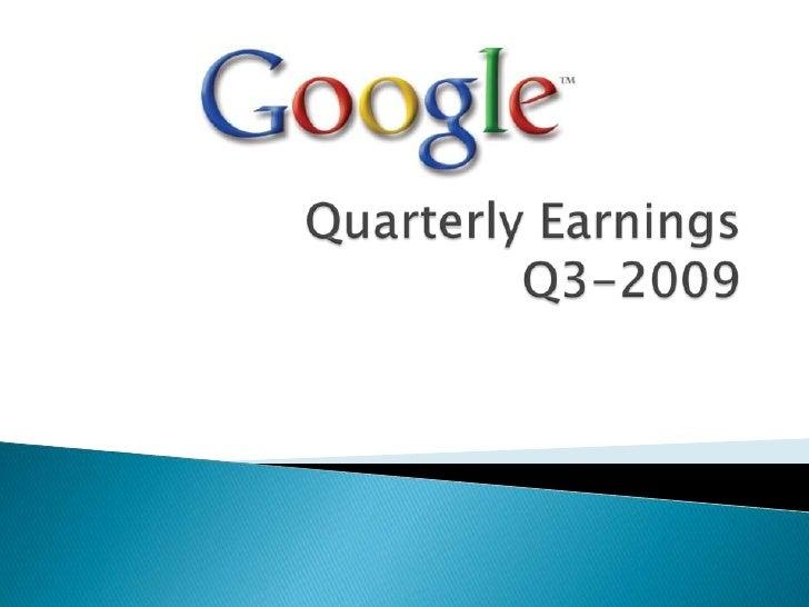 QuarterlyEarningsQ3-2009<br />
