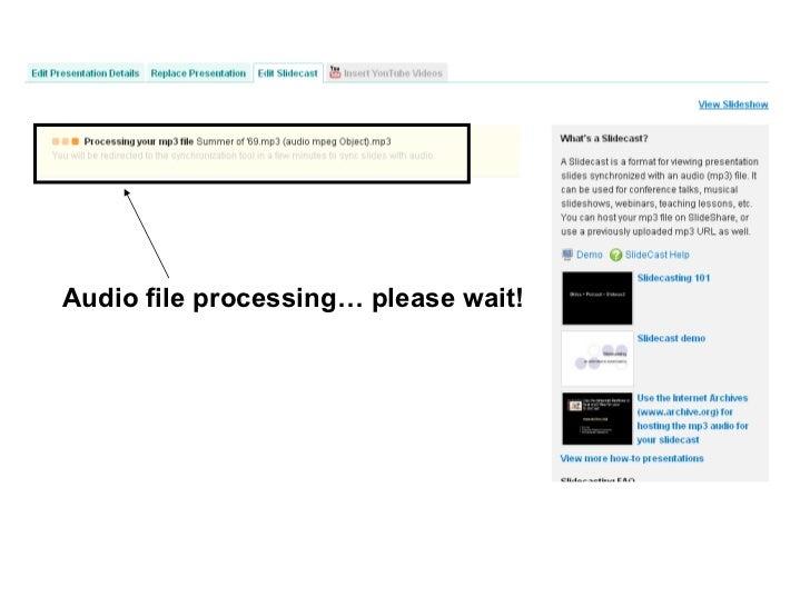 Audio file processing… please wait!