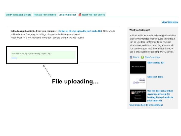 File uploading…