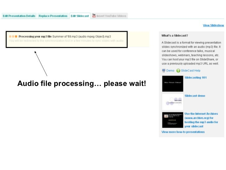 Audio file processing… please wait!
