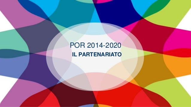 POR 2014-2020 IL PARTENARIATO