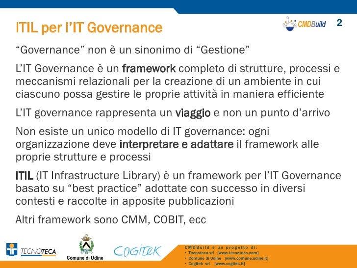 itil come sistema di governancedei servizi it cmdbuilda