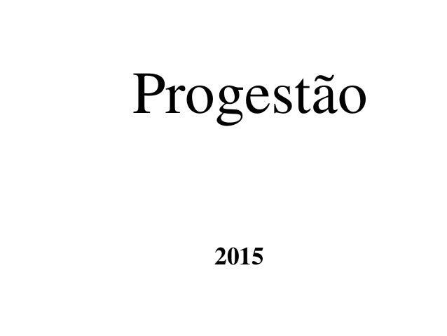 Progestão 2015