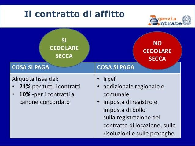 Il contratto di locazione come e quando registrare for Contratto di locazione con cedolare secca