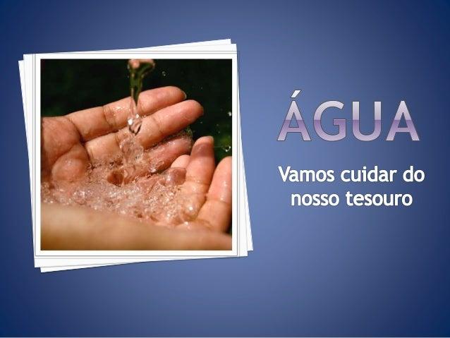 Você sabia que sem água não haveria seres vivos? Ela é um dos principais recursos naturais do planeta e que se não tomarmo...