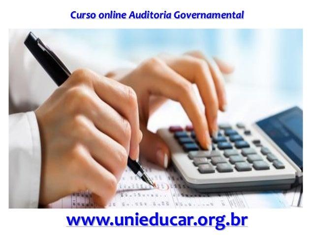 Curso online Auditoria Governamental www.unieducar.org.br