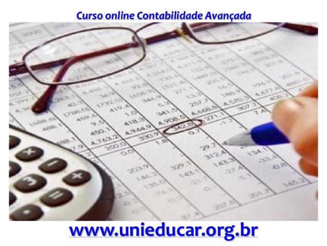 Curso online Contabilidade Avançada www.unieducar.org.br