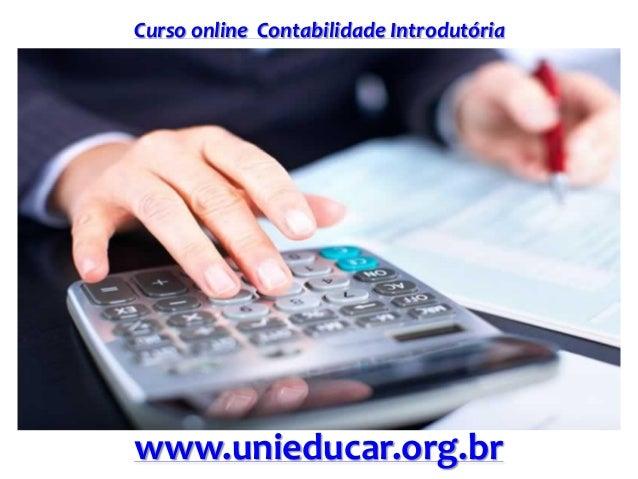 Curso online Contabilidade Introdutória www.unieducar.org.br