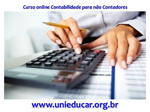 Curso online Contabilidade para não Contadores www.unieducar.org.br