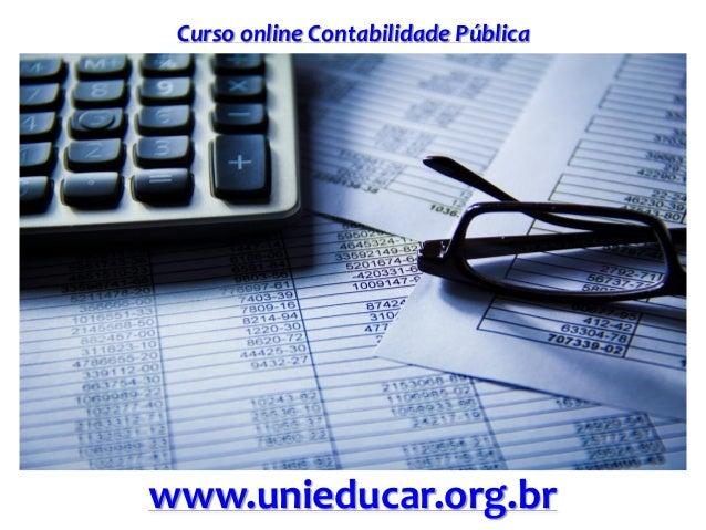 Curso online Contabilidade Pública www.unieducar.org.br