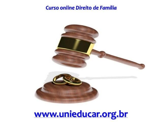 Curso online Direito de Família www.unieducar.org.br