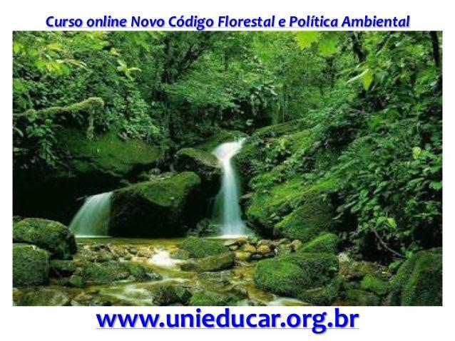 Curso online Novo Código Florestal e Política Ambiental www.unieducar.org.br