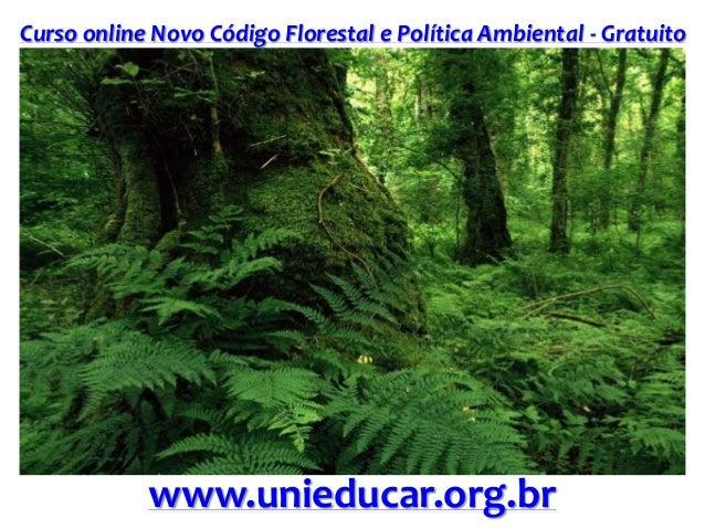Curso online Novo Código Florestal e Política Ambiental - Gratuito www.unieducar.org.br