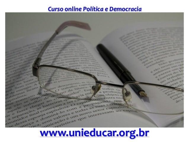Curso online Política e Democracia www.unieducar.org.br