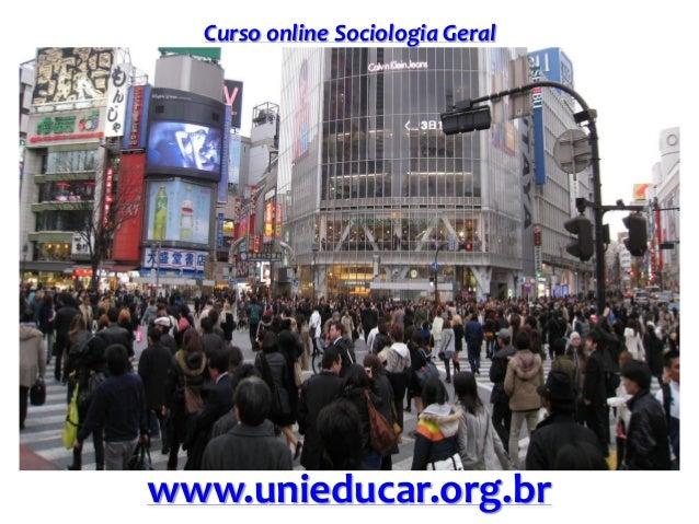 Curso online Sociologia Geral www.unieducar.org.br