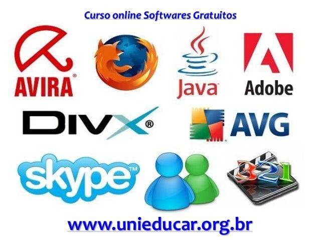 Curso online Softwares Gratuitos www.unieducar.org.br