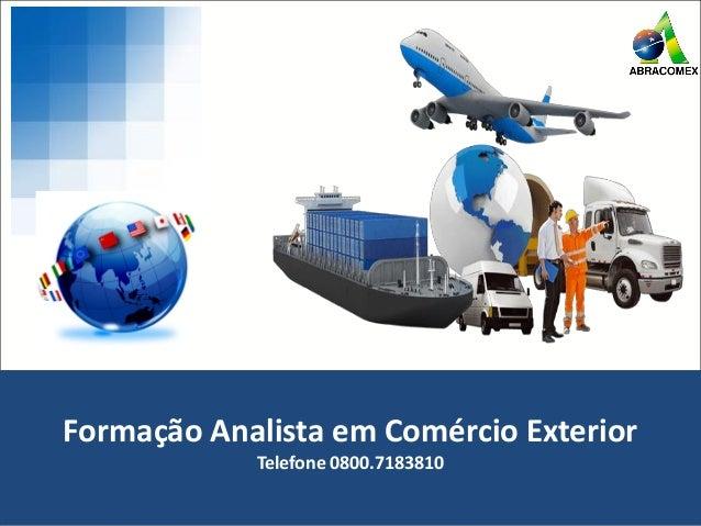 Aula inaugural analista de com rcio exterior for Comercio exterior