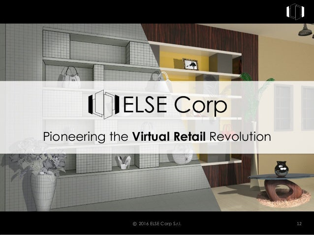 © 2016 ELSE Corp S.r.l. 12 Pioneering the Virtual Retail Revolution