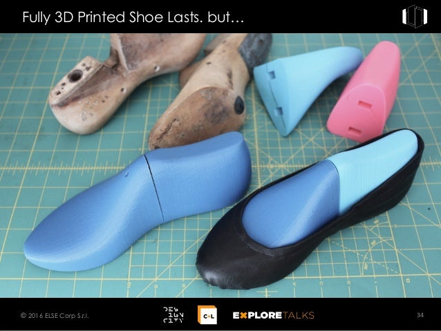 Fully 3D Printed Shoe Lasts. but… 34© 2016 ELSE Corp S.r.l.