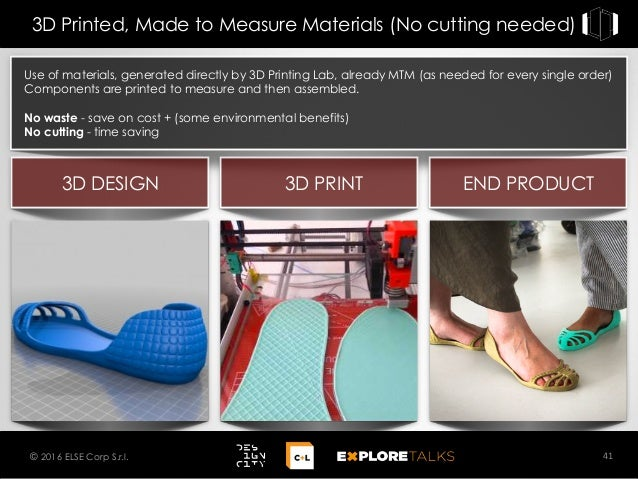 Use of materials, generated directly by 3D Printing Lab, already MTM (as needed for every single order) Components are pri...