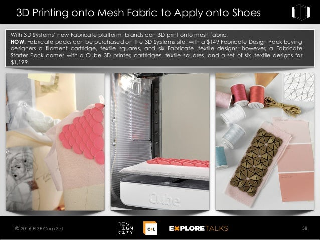 With 3D Systems' new Fabricate platform, brands can 3D print onto mesh fabric. HOW: Fabricate packs can be purchased on th...