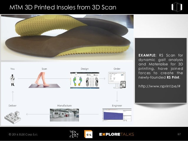EXAMPLE: RS Scan for dynamic gait analysis and Materialise for 3D printing, have joined forces to create the newly-founded...