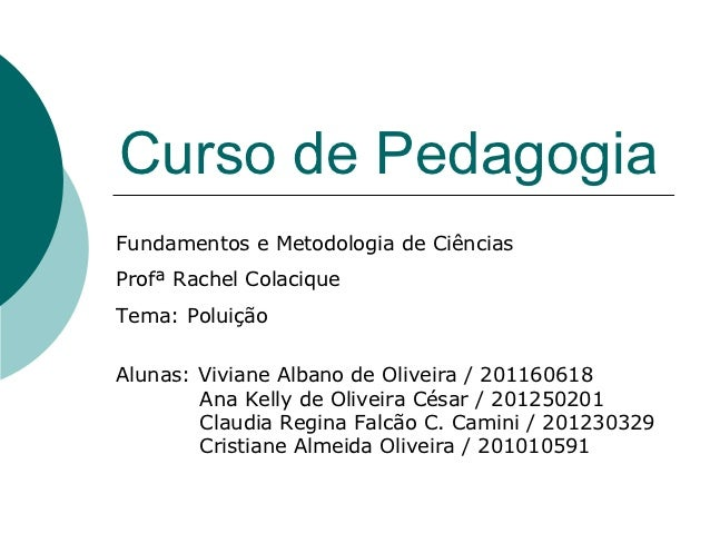 Curso de PedagogiaFundamentos e Metodologia de CiênciasProfª Rachel ColaciqueTema: PoluiçãoAlunas: Viviane Albano de Olive...