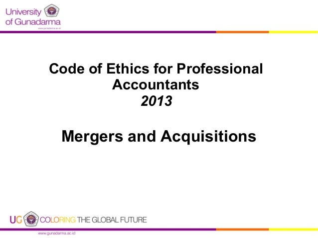 Code of Ethics for Professional Accountants 2013  Mergers and Acquisitions