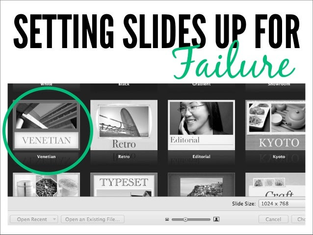 SETTING SLIDES UP FOR            Failure