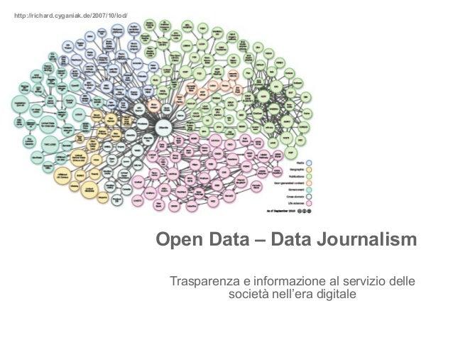 http://richard.cyganiak.de/2007/10/lod/ Open Data – Data Journalism Trasparenza e informazione al servizio delle società n...