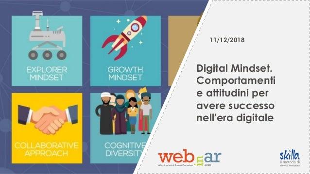 11/12/2018 Digital Mindset. Comportamenti e attitudini per avere successo nell'era digitale