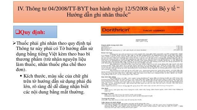 Quy định Về Tờ Hướng Dẫn Sử Dụng Thuốc Tại Việt Nam Và Trên Thế Giới