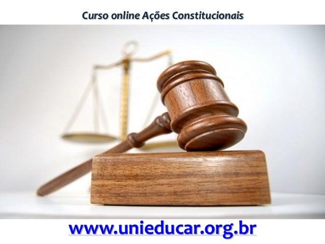 Curso online Ações Constitucionaiswww.unieducar.org.br