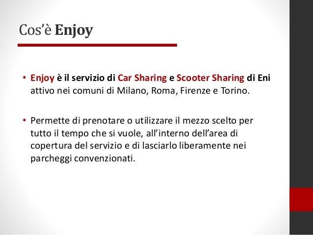 Enjoy Car Sharing Progetto Di Ergonomia Cognitiva