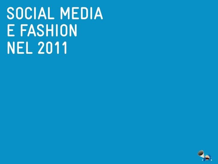 SOCIAL MEDIAE FASHIONNEL 2011