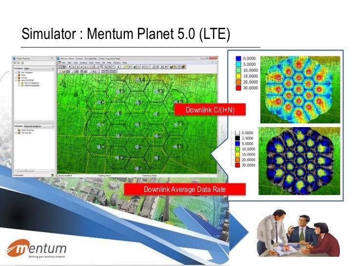 Simulator : Mentum Planet 5.0 (LTE)                                 Downlink C/(I+N)                    Downlink Average D...