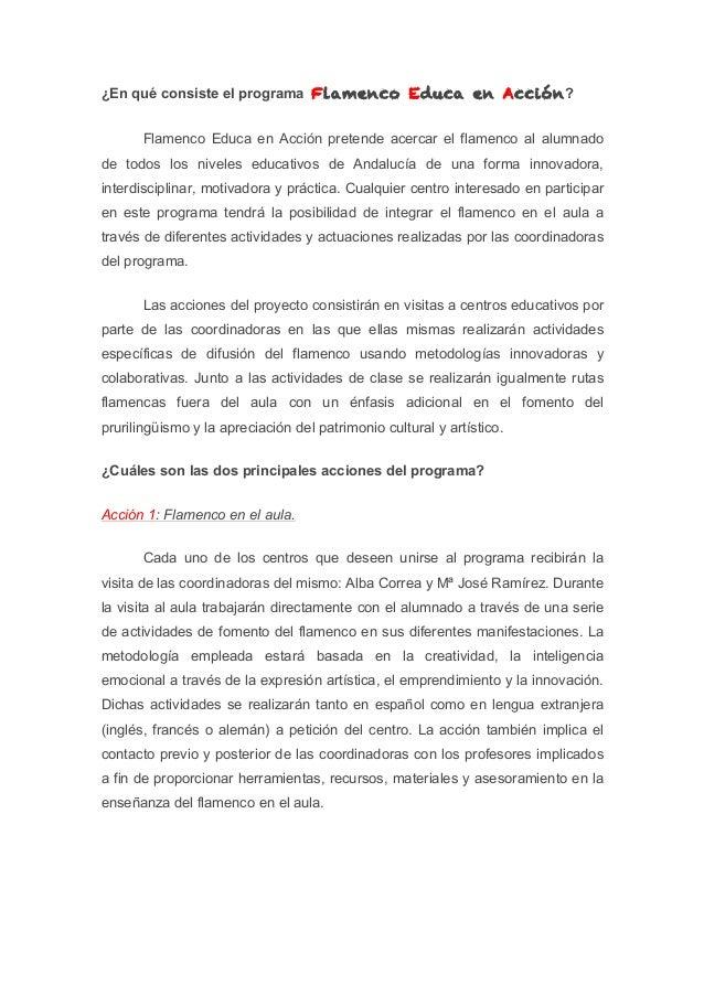Flamenco Educa en Acción Slide 2