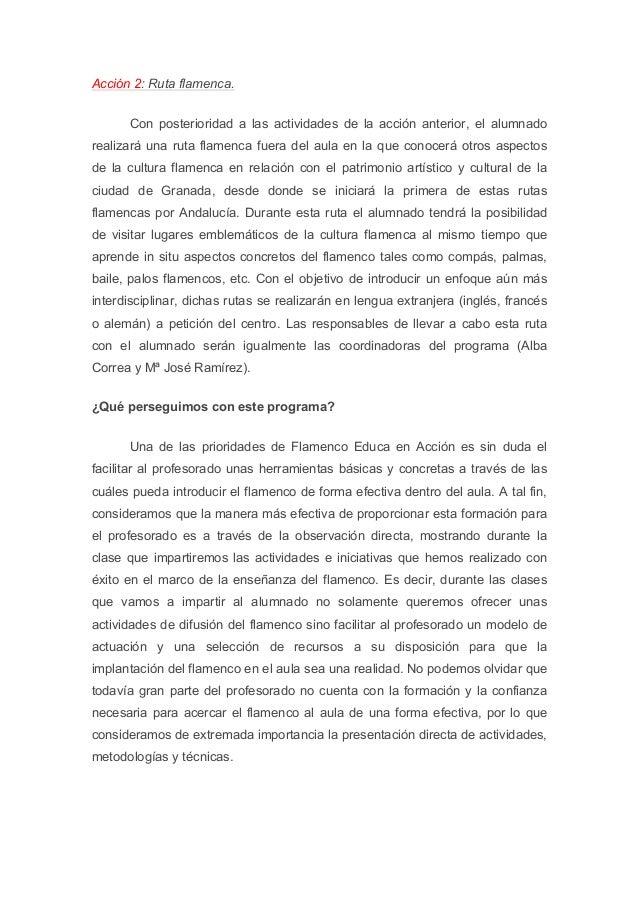 Flamenco Educa en Acción Slide 3